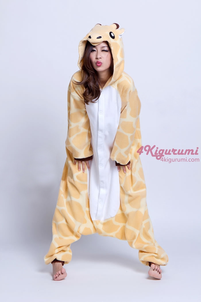 Adult Animal Onesie Giraffe Onesie Animal Costumes Kigurumi Pajamas